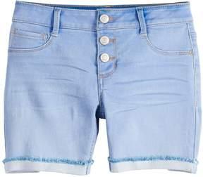 Mudd Girls 7-16 Whiskered Midi Jean Shorts