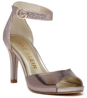 Anne Klein Opalize Snake Embossed Dress Sandal