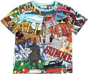 Dolce & Gabbana Cities Printed Cotton Jersey T-Shirt