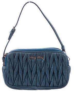 Miu Miu Mini Matelassé Pleated Bag