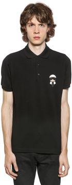 Karl Patched Cotton Piqué Polo Shirt