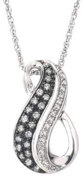 Armani Exchange Jewelry Diamond Swirl Necklace in Sterling Silver (0.33 cts, H-I I2 and Grey Diamonds)