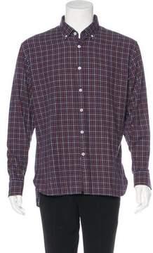Billy Reid Plaid Flannel Shirt