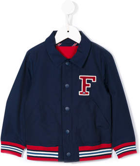 Familiar logo patch bomber