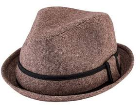 San Diego Hat Company Men's Tweed Fedora With Contrast Trim Sdh9446.
