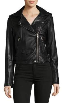 Andrew Marc Wesley Leather Motor Jacket