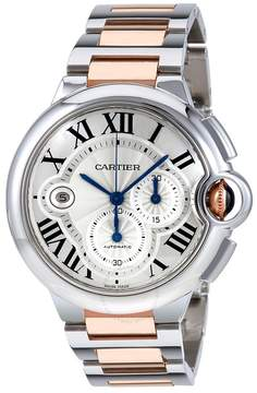 Cartier Ballon Bleu Silvered Guilloche Dial Men's Watch