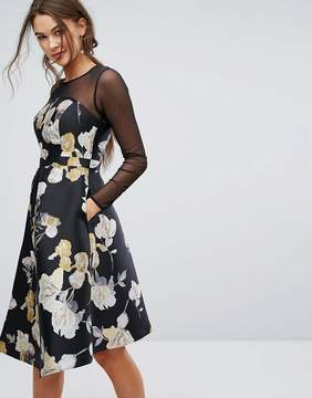 Coast Mia Mesh Sleeve Dress