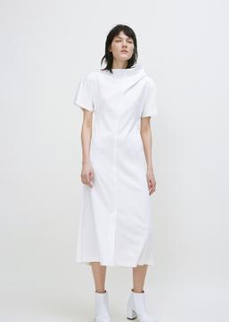Aalto White Long Fluid Dress