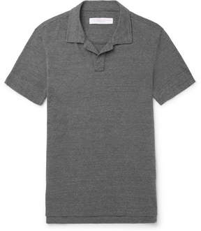 Orlebar Brown Felix Mélange Cotton-Jersey Polo Shirt
