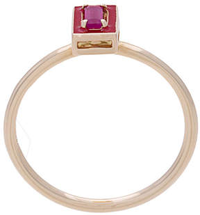 Alison Lou Dearest R ruby stacking ring
