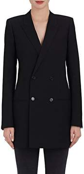 Saint Laurent Women's Wool Gabardine Double-Breasted Blazer