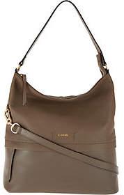 Lodis Smooth & Pebble Italian Leather Hobo with RFID - Sunny