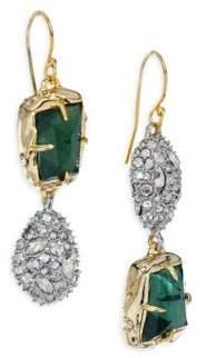 Alexis Bittar Elements Green Amethyst, Pyrite Doublet & Crystal Drop Earrings