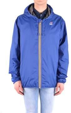 K-Way Men's Blue Polyamide Outerwear Jacket.