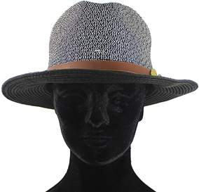 La Fiorentina Straw Hat With Leather Strap.
