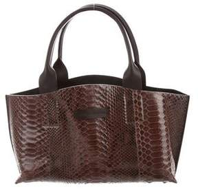 Brunello Cucinelli Leather-Trimmed Python Tote