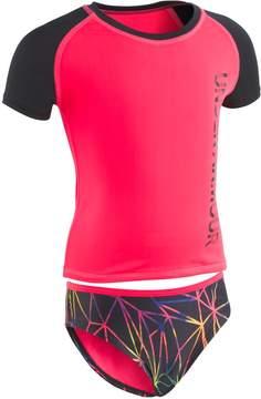 Under Armour Girls 7-16 Prism Rashguard & Bottoms Swimsuit Set