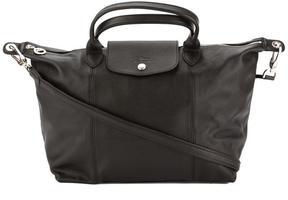 Longchamp Black Metis Leather Le Pliage Cuir L Top Handle Bag - ONE COLOR - STYLE