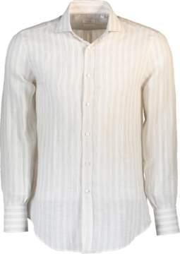 Brunello Cucinelli Wide Stripe Linen Shirt