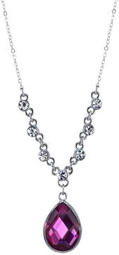 1928 Faceted Teardrop Necklace