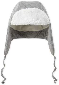 Petit Bateau Boys quilted double knit trapper hat