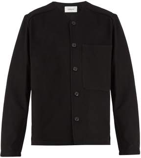 Lemaire Collarless brushed-wool cardigan