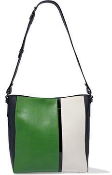 Lanvin Color-Block Matte And Patent-Leather Tote