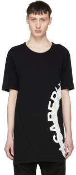 11 By Boris Bidjan Saberi Black Wheel Logo T-Shirt