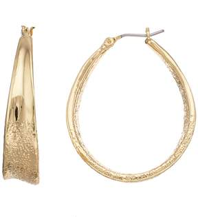 Dana Buchman Textured Oval Hoop Earrings
