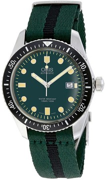 Oris Divers Green Dial Automatic Men's Watch