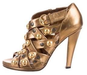 Gucci Embellished Cage Sandals