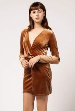 Azalea Velvet Twist Long Sleeve Mini Dress