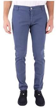 Entre Amis Men's Blue Cotton Pants.