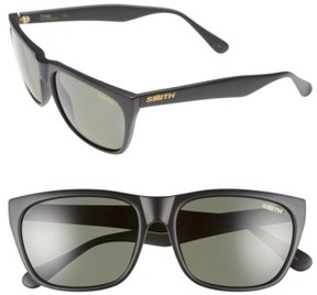 Smith Women's 'Tioga' 57Mm Polarized Sunglasses - Matte Black/ Polar Gray Green