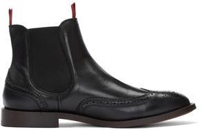 H By Hudson Black Breslin Chelsea Boots