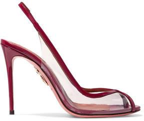 Aquazzura Temptation Patent Leather-trimmed Pvc Slingback Sandals - Red