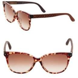 Bottega Veneta 56MM Tortoiseshell Sunglasses