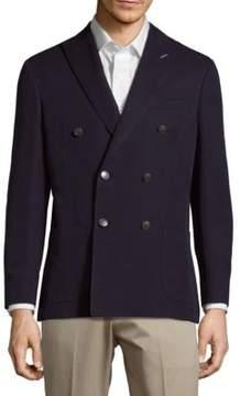 Michael Bastian Double-Breasted Cotton & Silk Blazer