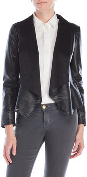 Bagatelle Perforated Faux Leather Jacket