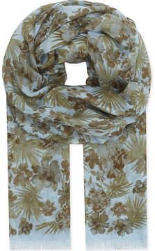Eton Botanical print cotton-modal scarf