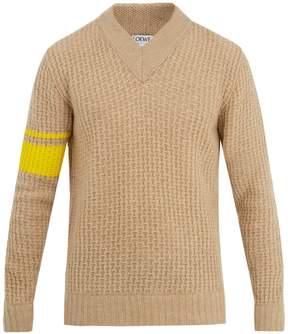 Loewe Striped-detail wool-blend sweater