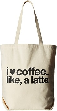 Dogeared - I Coffee Like A Latte Tote Tote Handbags