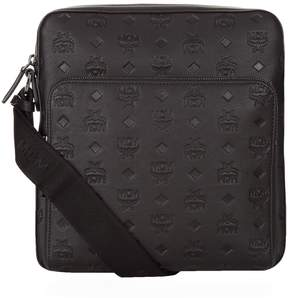 MCM Embossed Leather Small Messenger Bag