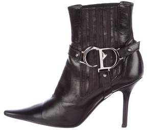 Christian Dior Logo Stirrup Booties