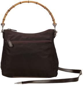Gucci Bamboo cloth handbag - BROWN - STYLE