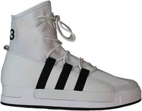 Y-3 White Atta High Top Sneakers