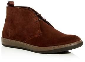 Giorgio Armani Men's Embossed Suede Chukka Boots