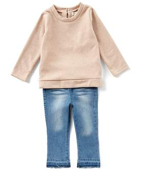 Jessica Simpson Baby Girls 12-24 Months Sparkle French Terry Top & Jeans Set
