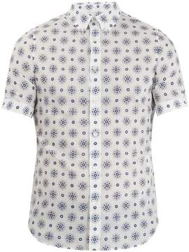 Alexander McQueen Floral-print short-sleeved cotton shirt